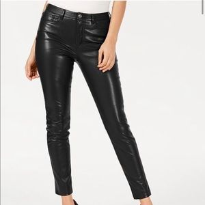 Guess NWT Black faux leather skinny pants 0